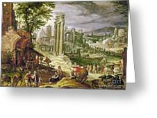 Roman Forum, 16th Century Greeting Card
