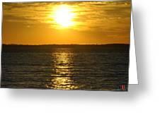 013 Sunset 16mar16 Greeting Card