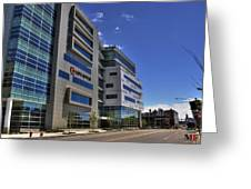 02 Conventus Medical Building On Main Street Greeting Card