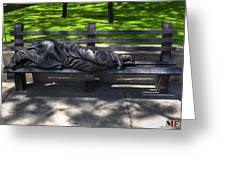 02 Homeless Jesus By Timothy P Schmalz Greeting Card