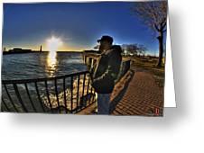 02 Me Sunset 16mar16 Greeting Card