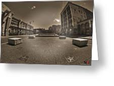 02 Plaza Of Stars Sepia Tone  Greeting Card