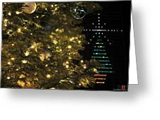 02 Xmas Trees At Canalside And Seneca One Tower Dec2015 Greeting Card