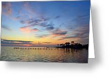 0201 Sunset Wisps On Sound Greeting Card