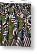03 Flags For Fallen Soldiers Of Sep 11 Greeting Card