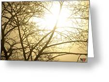 03 Foggy Sunday Sunrise Greeting Card