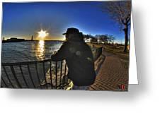 03 Me Sunset 16mar16 Greeting Card
