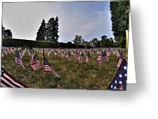 04 Flags For Fallen Soldiers Of Sep 11 Greeting Card