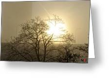 04 Foggy Sunday Sunrise Greeting Card