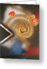 046 Thrice Golden Greeting Card