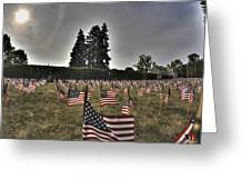 05 Flags For Fallen Soldiers Of Sep 11 Greeting Card