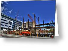 05 Medical Building Construction On Main Street Greeting Card