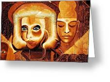 053 - Golden People V Greeting Card