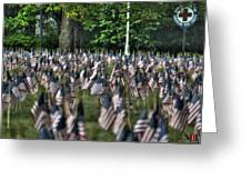 06 Flags For Fallen Soldiers Of Sep 11 Greeting Card