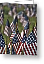 07 Flags For Fallen Soldiers Of Sep 11 Greeting Card