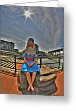 07 Shark Girl Greeting Card