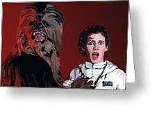 070. Naughty Wookie Greeting Card by Tam Hazlewood