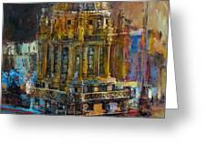 071 Famous Building Top In Chicago Illinois Greeting Card