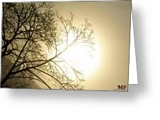 08 Foggy Sunday Sunrise Greeting Card