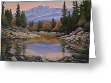080120-1814  October View - Pikes Peak Greeting Card