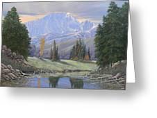 080324-4030 Breaking Through - Pikes Peak Greeting Card