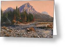 080525-1620  Fading Light On Horse Thief Creek Greeting Card