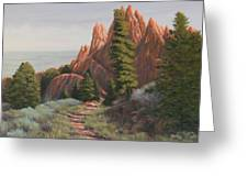 080914-1620   The Path Often Taken Greeting Card