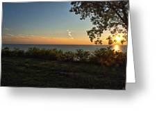 0874- Lake Michigan Sunset Greeting Card