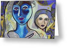 092 - Blue Lady  Greeting Card