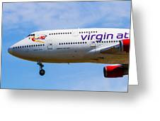 A Virgin Atlantic Boeing 747 Greeting Card