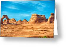 Famous Delicate Arch In Arches National Park Greeting Card