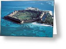 Fort Jefferson In The Gulf Of Mexico Greeting Card