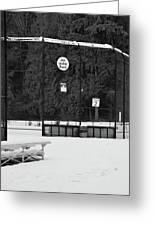 Snowy Field  Greeting Card