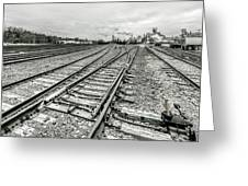 10th St. Tracks Greeting Card