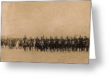 180 Degrees Panorama Troops Passing In Review No Date Or Locale Restored Color Added 2008 Greeting Card