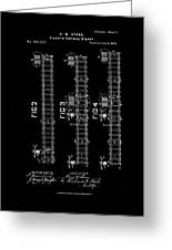 1875 Electric Railway Signal Patent Drawing  Greeting Card