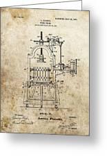 1903 Wine Press Patent Greeting Card