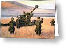 1-190th Artillery Greeting Card by Scott Robertson
