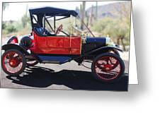 1911 Ford Model T Torpedo Greeting Card