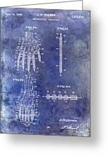 1911 Mechanical Skeleton Patent Blue Greeting Card
