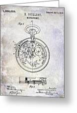 1913 Pocket Watch Patent Greeting Card