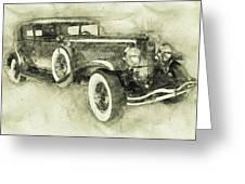 1928 Duesenberg Model J 3 - Automotive Art - Car Posters Greeting Card