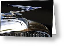 1929 Duesenberg Model J Hood Ornament Greeting Card