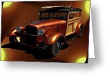 1929 Ford Model A Woody Greeting Card