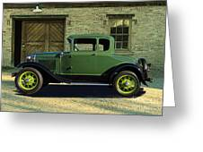 1930 Ford Model A Roadster Greeting Card