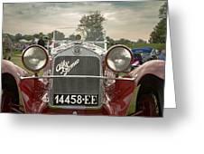 1931 Alfa Romeo Greeting Card