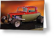 1932 Ford 'three Window' Coupe Greeting Card