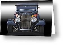 1932 Ford 'traditional' Hot Rod Roadster Greeting Card
