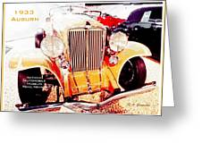 1933 Auburn Classic Automobile Greeting Card