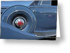 1937 Packard Automobile Greeting Card